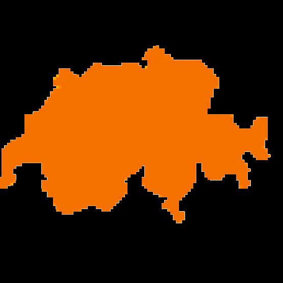 Karte von der Schweiz